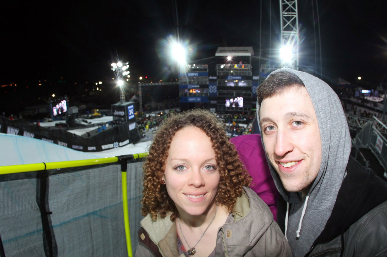 Up close and personal at the ESPN Winter X Games!